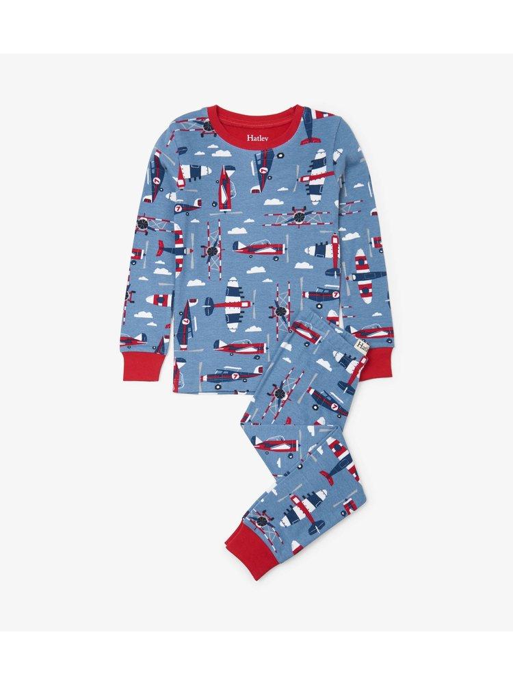Hatley Paper Planes Pyjamaset  - Organic Cotton