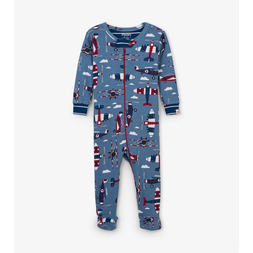 Hatley Paper Planes Pyjama met voet - Organic Cotton