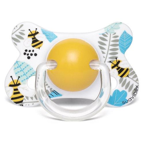 Suavinex Speen - Siliconen -Fysiologisch - +4/18M Bee Yellow