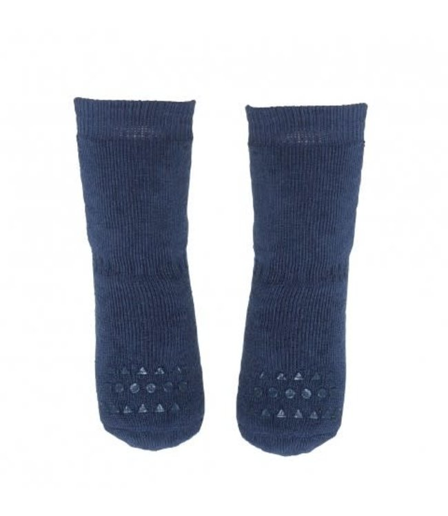 Go baby go Anti- slip sokken Petrol Blauw - Oekotex