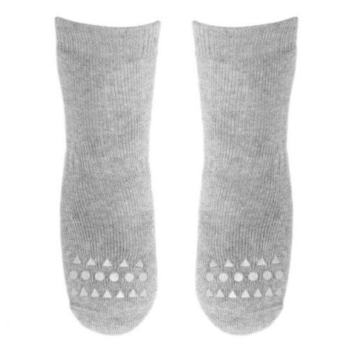 Go baby go Anti- slip sokken Grijs Melange - Oekotex