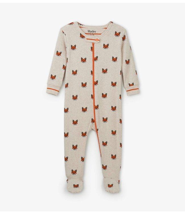 Hatley Clever Fox Pyjama met voet - Organic Cotton