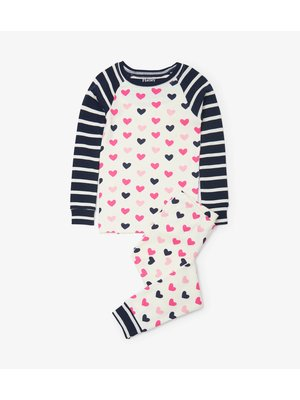 Hatley Lovely Hearts Pyjamaset  - Organic Cotton