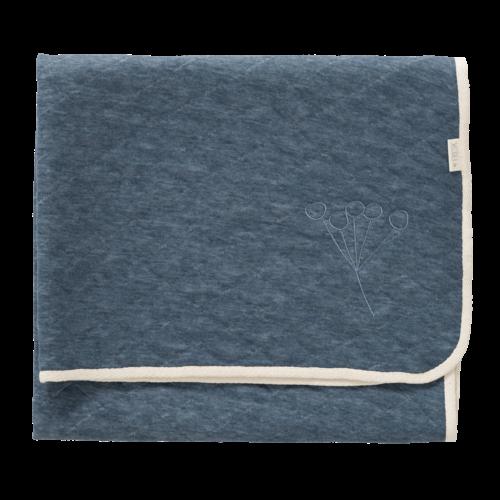 Fresk Fresk ledikantdeken Nordic Indigi Blue 150 x 100 cm [TOG 1.3]
