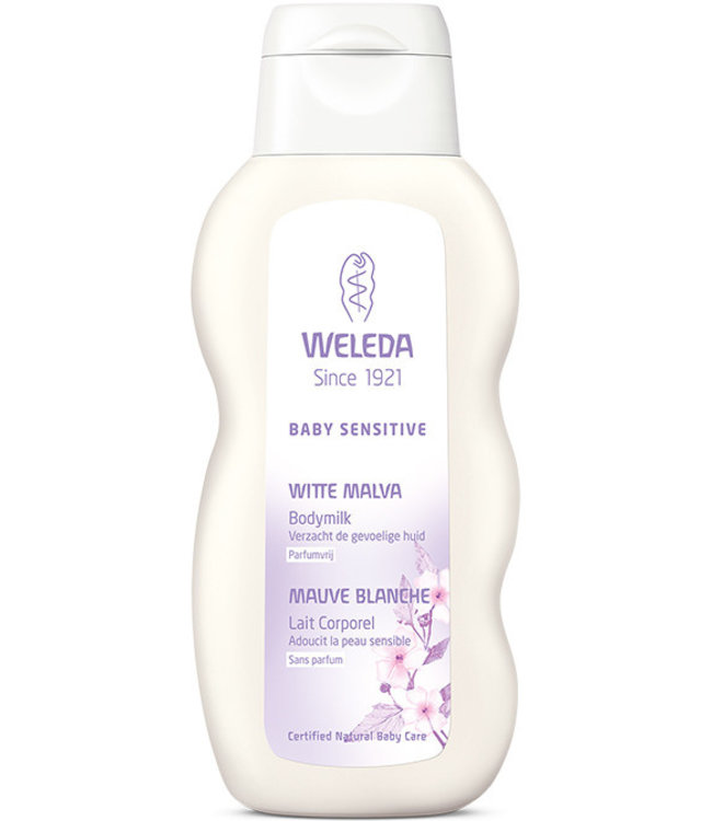Weleda Baby sensitive Witte Malva Bodymilk - Parfumvrij 200 ml
