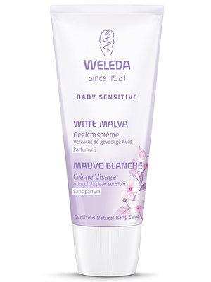 Weleda Baby sensitive Witte Malva Gezichtscrème - Parfumvrij 200 ml