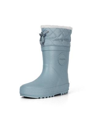 Druppies Winter boot - Regenlaars met voering IJsblauw