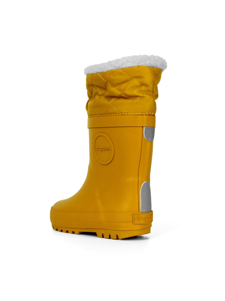 Druppies Winter boot - Regenlaars met voering Okergeel