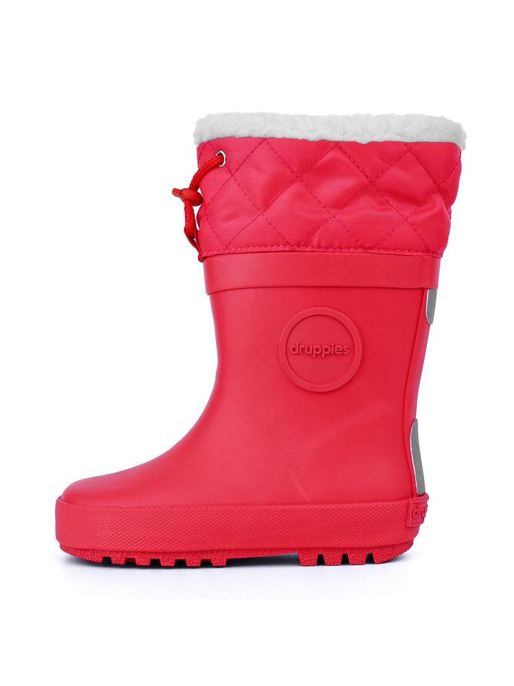 Druppies Winter boot - Regenlaars met voering Warm Roze
