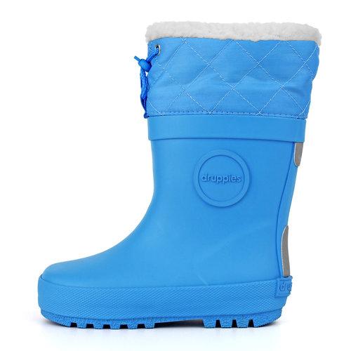 Druppies Winter boot - Regenlaars met voering Hemelsblauw