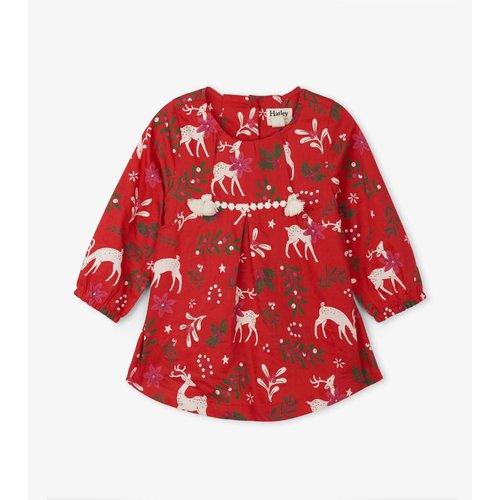 Hatley Mistletoe Deer Baby Party dress
