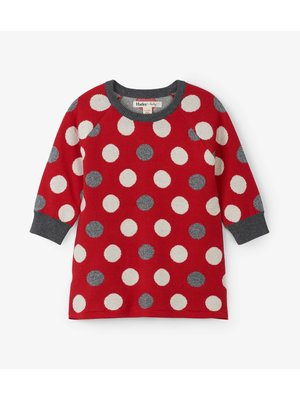Hatley Holiday Dots Baby Sweater dress