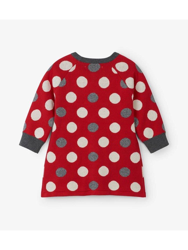 Hatley Holiday Dots Baby Sweater dress