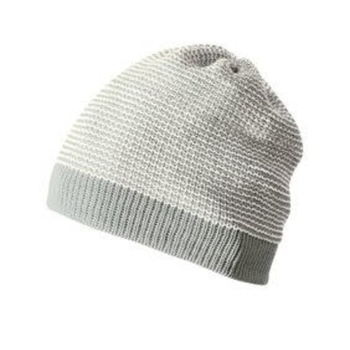 Disana Beanie - Gebreid mustje GOTS wol Grey- Natural