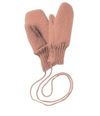 Disana Handschoenen gekookte GOTS wol Rose