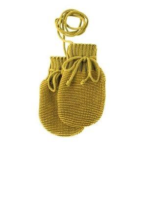Disana Baby handschoenen gebreid GOTS wol Curry- Gold