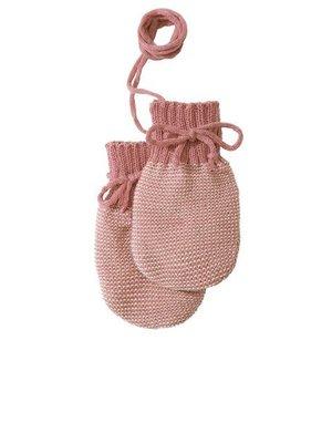 Disana Baby handschoenen gebreid GOTS wol Rose- Natural