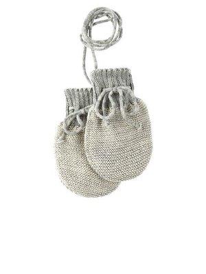 Disana Baby handschoenen gebreid GOTS wol Grey- Natural