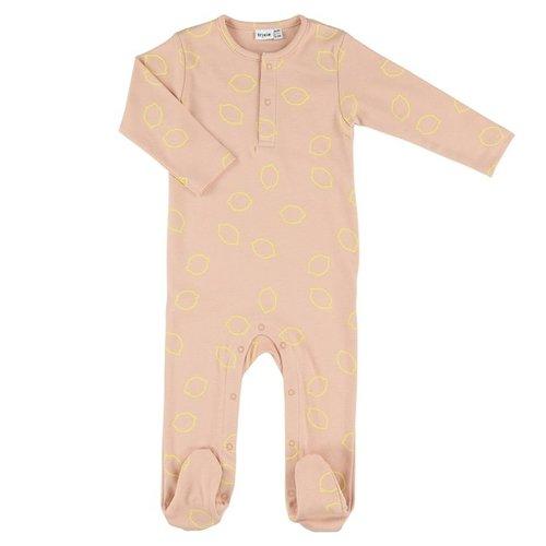 Trixie Onesie with feet - Pyjama met voetjes biologisch katoen Lemon Squash