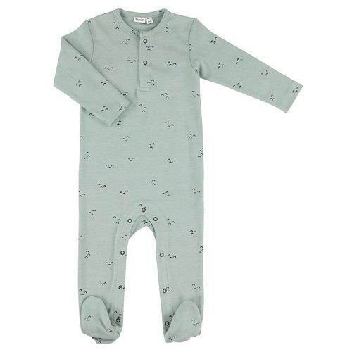 Trixie Onesie with feet - Pyjama met voetjes biologisch katoen Mountains