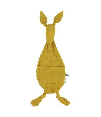 Les reves d'anais Speen/knuffeldoekje Kangoeroe Bliss Mustard