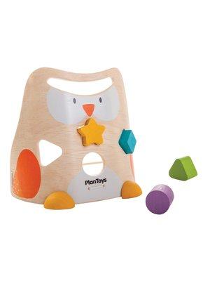 Plan Toys Vormenstoof uil van duurzaam hout