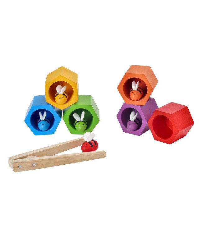 Plan Toys Beehives - Bijen spel van duurzaam hout