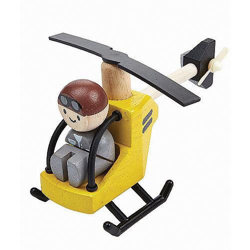 Plan Toys Helicopter met piloot van duurzaam hout