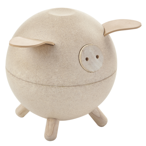 Plan Toys Piggy Bank spaarpot Wit
