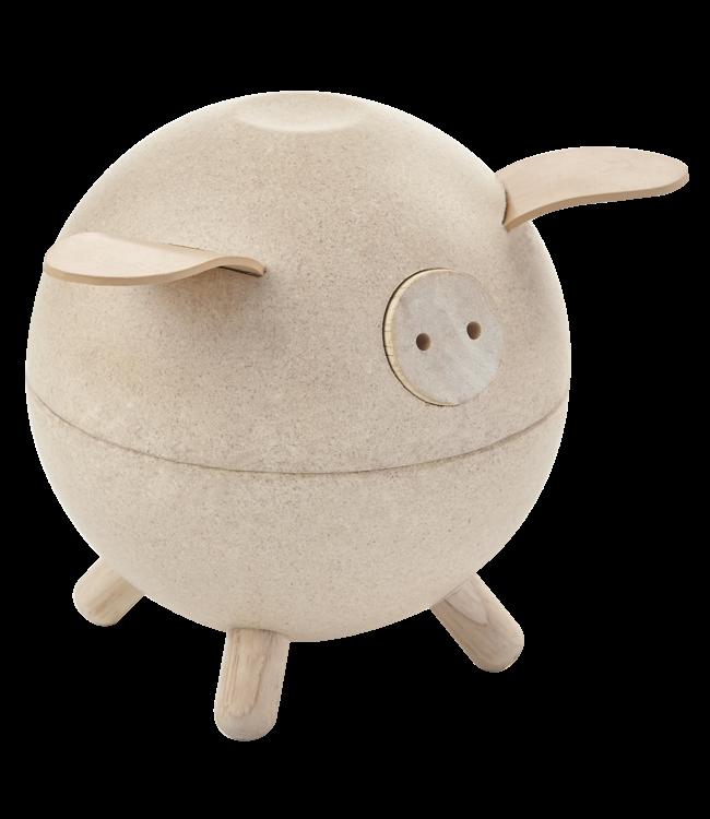 Plan Toys Piggy Bank spaarpot Wit van duurzaam hout