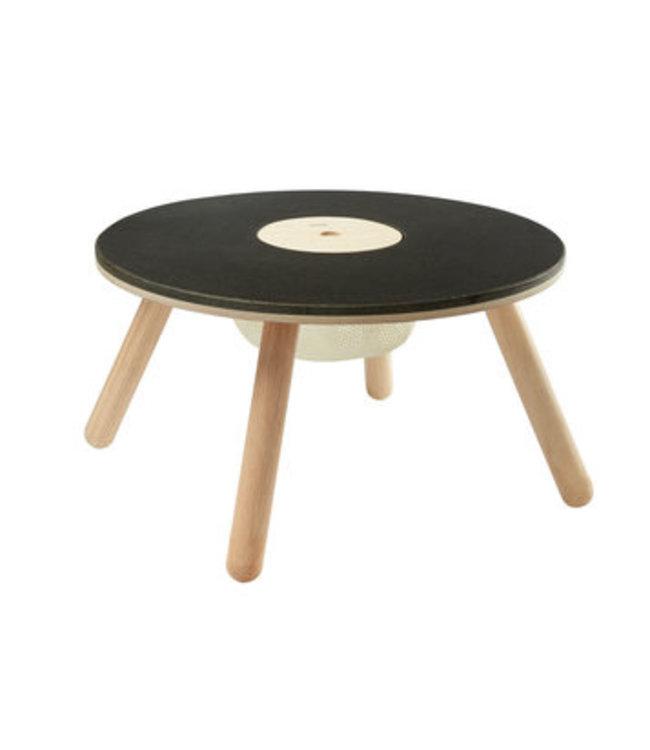 Plan Toys Ronde tafel van duurzaam hout met opbergzakje