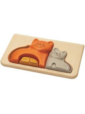 Plan Toys Houten relief puzzel Kat van duurzaam hout