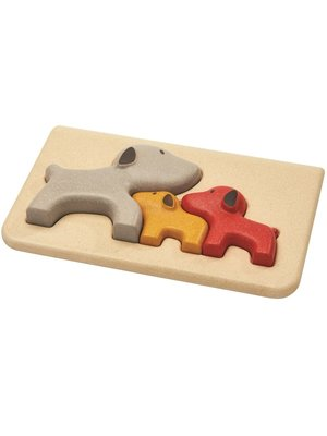 Plan Toys Houten relief puzzel Hond Plan Toys