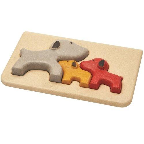 Plan Toys Houten relief puzzel Hond van duurzaam hout