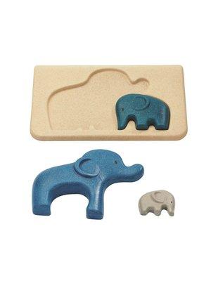 Plan Toys Houten relief puzzel Olifant Plan Toys