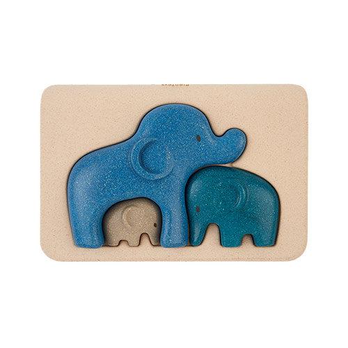 Plan Toys Houten relief puzzel Olifant van duurzaam hout