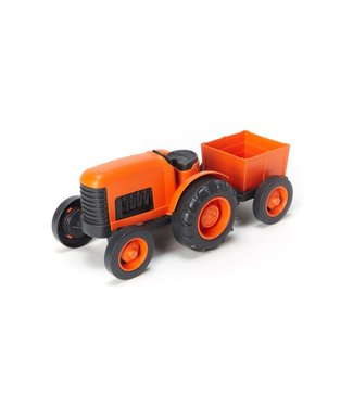 Green Toys Tractor Orange - Tractor Oranje van gerecycled plastic