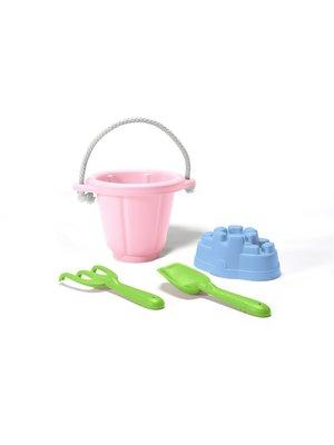 Green Toys Strand speel set Roze (4-delig) van gerecycled plastic
