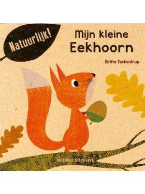 Mijn Kleine eekhoorn. Britta Teckentrup 100% gerecycled papier en gedrukt met eco-inkt