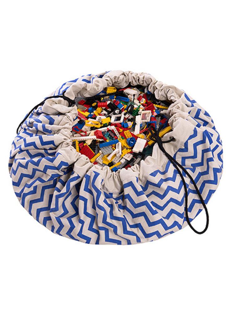 Play & Go Play & Go Speelkleed Blauw/wit zigzag streep