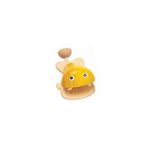 Plan Toys Castagnette Fisch Geel van duurzaam hout