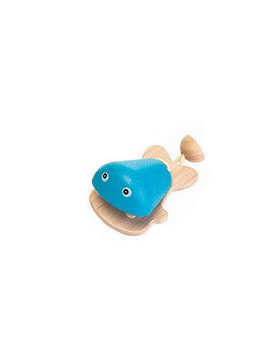 Plan Toys Castagnette Fisch Blauw