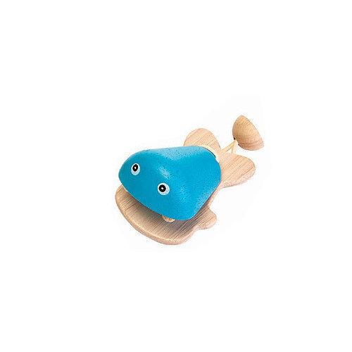Plan Toys Castagnette Fisch Blauw van duurzaam hout