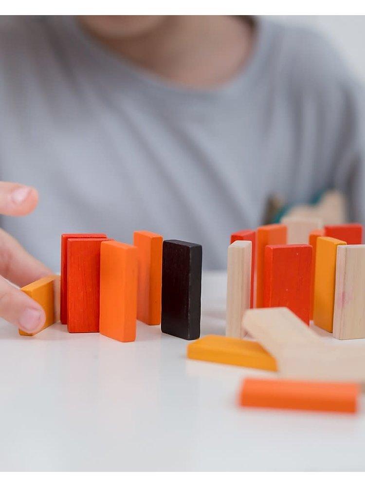 Plan Toys Domino Race in metalen opbergdoosje