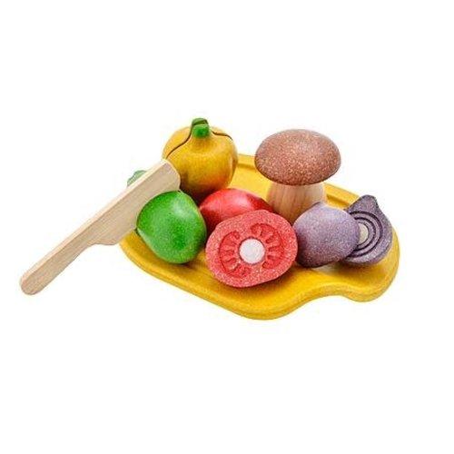 Plan Toys Snijset groente (7-delig) van duurzaam hout