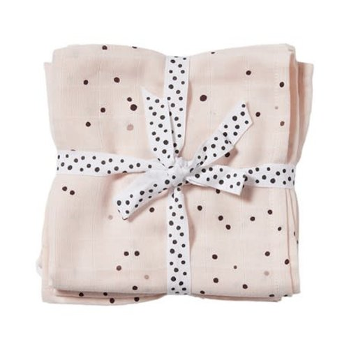 Done by Deer Swaddle 2- pack Dreamy Dots Powder 120 x 120 cm