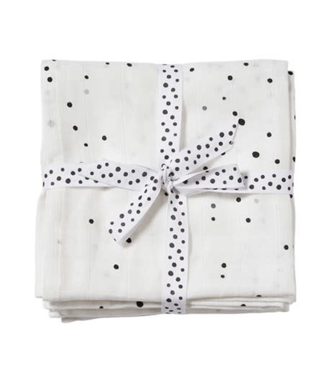 Done by Deer Swaddle 2- pack Dreamy Dots White 120 x 120 cm