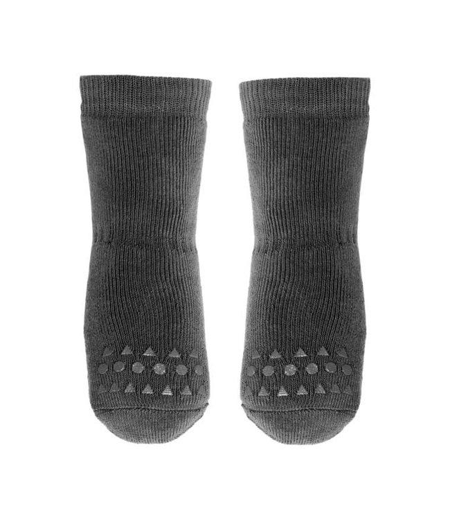 Go baby go Anti- slip sokken Donker Grijs Melange - Oekotex