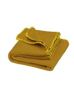 Disana Babydeken GOTS Wol Melange Curry Gold 100x80 cm