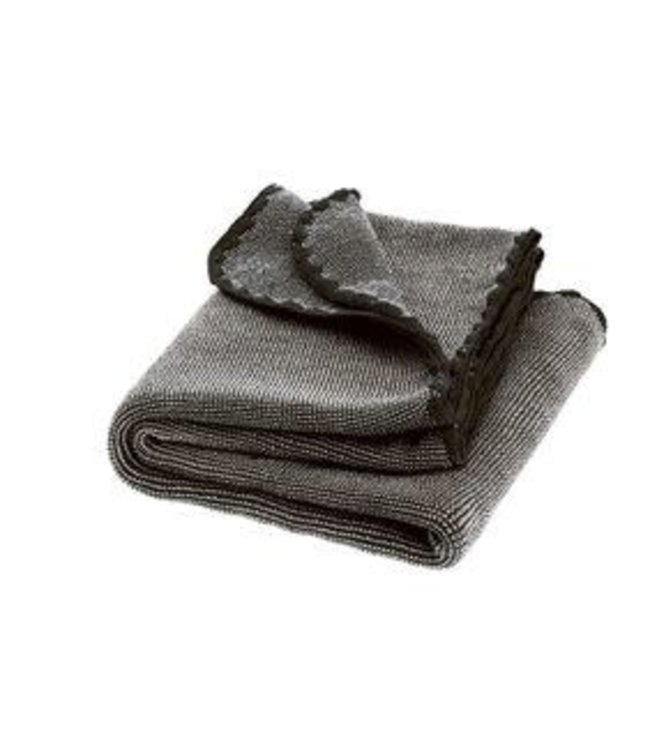 Disana Babydeken GOTS Wol Melange Antracite Grey 100x80 cm